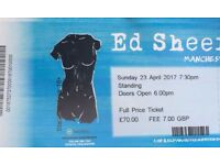 ED SHEERAN STANDING TICKETS MANCHESTER ARENA TONIGHT 23RD APRIL