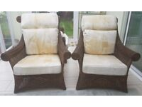 Whicker conservatory furniture set