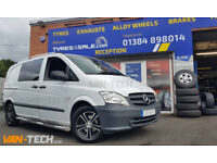 """16"""" Alloy Wheels, Side Bars and Roof Rails for Mercedes Vito"""