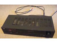 Vintage JVC AX-111 amplifier including leads, black