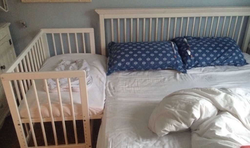 Baby Bedside Co Sleeper Cot Bed Side By Side With Mattress