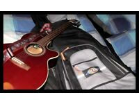 Takamine semi acoustic electric guitar and origonal gig bag