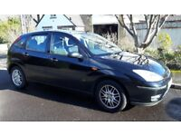 2004 Black Ford Focus 1.6LX Petrol Hatchback 5 dr alloys MOT November
