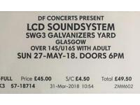 1 x discountedLCD Soundsystem ticket - sold out Sunday show