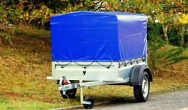 Car trailer 5x4 single axle 750kg with canvas cover