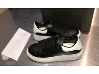 ALEXANDER MCQUEEN TRAINERS SIZE UK 7 8 9 BRAND NEW SHOES BLACK WHITE