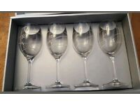 Set of 4 boxed royal doulton SWIRL wine glasses
