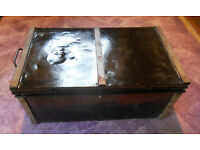 Vintage Ex Army TIN TRUNK