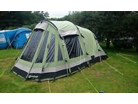 Outwell Trout Lake 4 poly/cotton 4 berth tent - excellent/as new condition - non smoking family