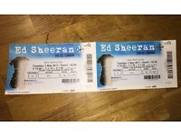 2x Ed Sheeran Tickets- 2nd May