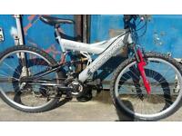 Shock wave full suspension mountain bike