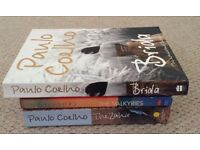 Paulo Coelho BOOKS : the ALCHEMIST + 11 MINUTES + BRIDA + THE ZAHIR + THE VALKYRIES ~ 3 books