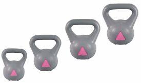 Strong Arm Kettlebell set free weights weight set 2-4-6-8kg set Kettlebell set Free DVD: NEW