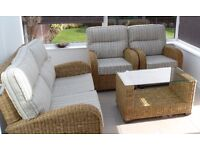 Top Quality Conservatory Sofa & Chairs – as new – Prices negotiable