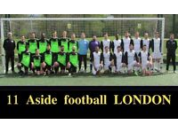 11 ASIDE TEAM, WE ARE RECRUITING, FIND FOOTBALL IN LONDON, PLAY IN LONDON