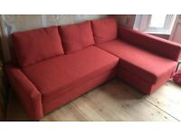 IKEA Frieheten Sofa bed Dark orange - Barely used £295 or best offer