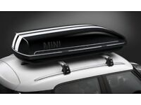 MINI Genuine Roof Box Black 320 Litres & MINI Aero Roof Bars