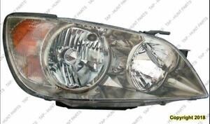 Head Lamp Passenger Side Hid Lens And Housing Fits 01-02 All/03-04 Without Sports Package Lexus IS300 2001-2004