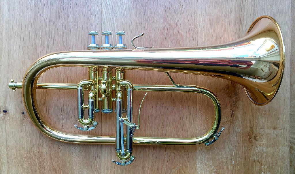 Bs 3145g Challenger Gold Brass Flugelhorn Flugel Horn As New