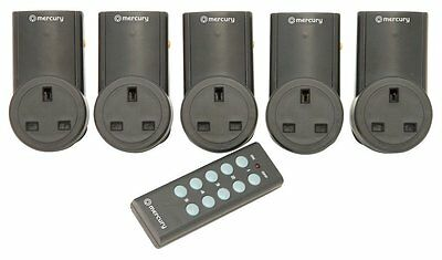 MERCURY 5 PC REMOTE CONTROL MAINS ADAPTOR SOCKET ADAPTOR SET 350.115 10A NEW