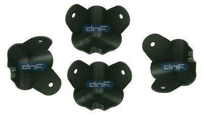 4 PACK BLACK 2 LEG CABINET METAL CORNER W/ LIP 1-3/8