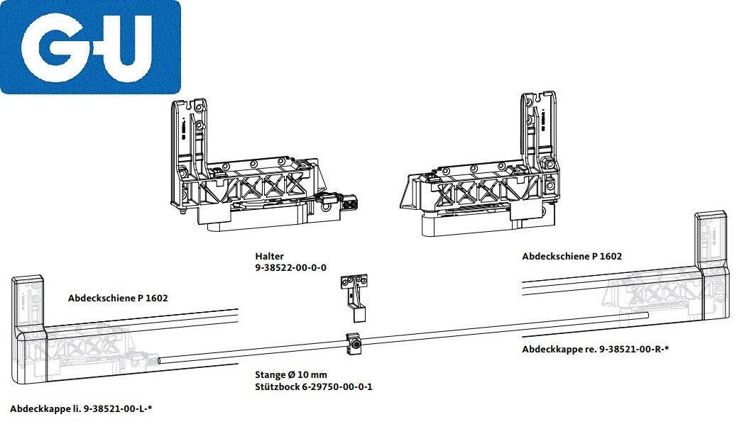 Laufwagen Abdeckschiene GU Reparaturset PSK 966 inkl Verbindunsstange Zubeh/ör /& ToniTec Beschl/ägespray