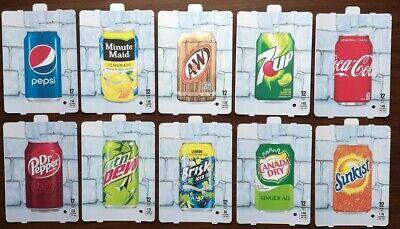 10 Dixie Narco 501e 276hvv Soda Vending Machine 12oz Can Vend Label