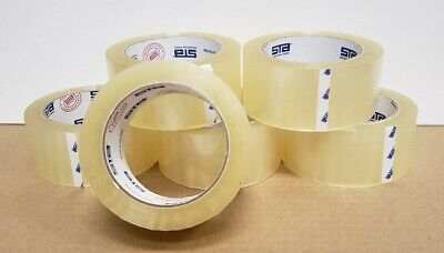 6 Rolls Clear Box Sealing Packing Tape -1.7 mil 2