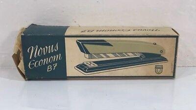 Vintage Retro Ivory Novus Econom B7 Office Desk Stapler W Box Made In Germany