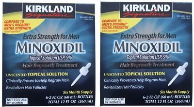 72 MONTHS KIRKLAND MINOXIDIL 5% MENS HAIR LOSS REGROWTH 12 BOXES EXP 08/2019