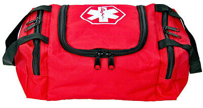 Red Dixie First Aid Kit EMT Medical Bag Trauma Emergency Medic Fully Stocked