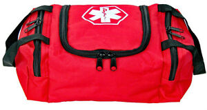 Dixie First Aid Kit EMT Medical Bag Trauma Emergency Medic RED Fully Stocked