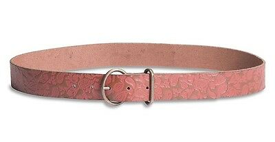 Lucky Brand - Women's L - NWT - Paisley Tooled Embossed Brown Leather Belt