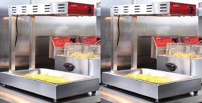 2 Infrared Fry Food Warmer Deep Fryer Dump Station Heat Lamp Commercial Avantco