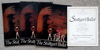 1960's Vintage STUTTGART BALLET in CHICAGO Archive PROGRAM LOT / Hurok