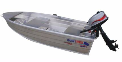 Quintrex Tinny, Outboard and Rhinorack loader