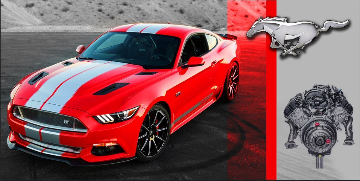 FORD MUSTANG Red Shelby Cobra MUSCLE CAR Garage Shop Vinyl Banner Sign  2 x 4'
