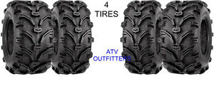 HONDA TRX 350 RANCHER 2x4 24x8-12 Front / 24x11-10 Rear ATV 6 PLY Tires Set of 4