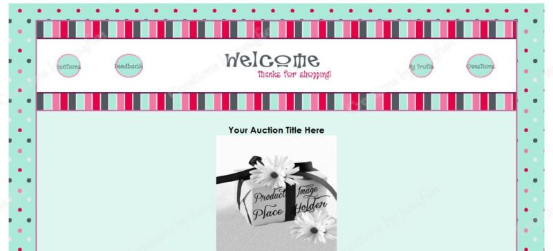 Stripes N Dots eBay Auction Template