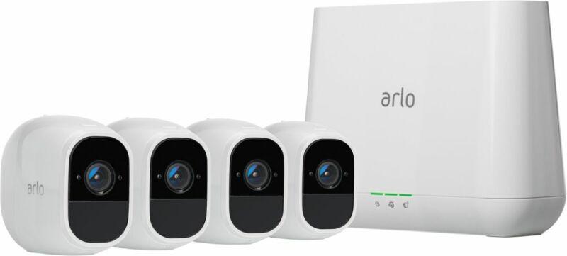Arlo - Pro 2 4-Camera Indoor/Outdoor Wireless 1080p Security Camera System - ...