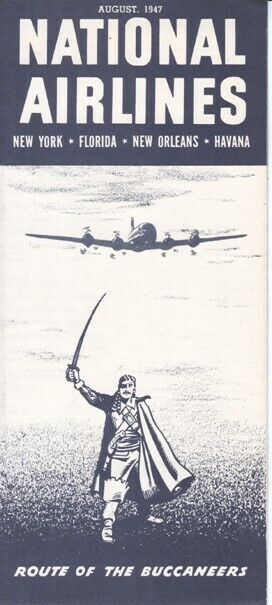 National Airlines timetable 1947/AUG