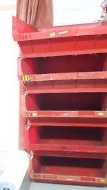 Red Plastic Bins Workshop/Garage