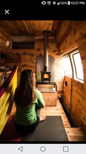 Camperized 1990 Chevy G30 - solar powered & wood stove!