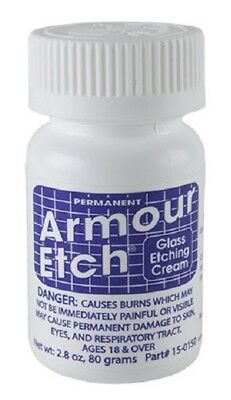 "Armour Etch Glass Etching Cream ~ 2.8oz jar ""SHIPS TODAY"""