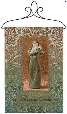 Earth Willow Tree - Willow Tree Peace on Earth Angel Holding Lamb Tapestry Bannerette Wall Hanging