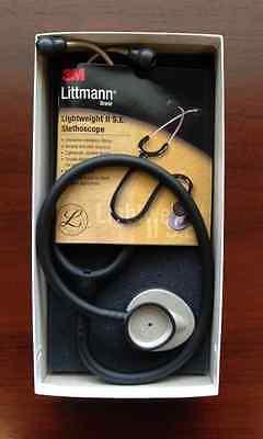 3m Littmann Lightweight Ii S.e. 28 Stethoscope Black 2450 New In Box Warranty