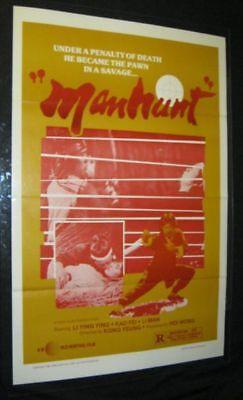 Tri Fold MANHUNT Martial Arts Near Mint