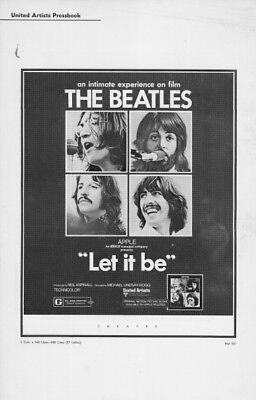 LET IT BE pressbook, The Beatles, John Lennon, Paul McCartney, Ringo Starr