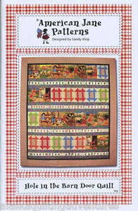 Quilt pattern hole in the barn door quilt by american jane for Red door design quilts