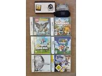 Nintendo DS with 7 games including Guitar Hero
